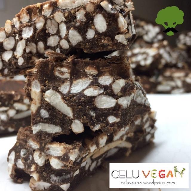 Cuadraditos de Chocolate y Arroz Inflado