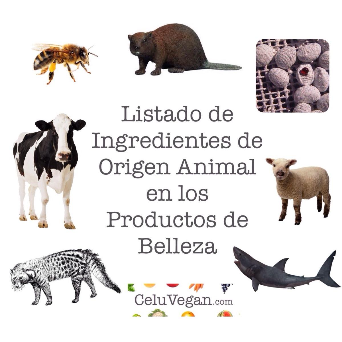 Listado de Ingredientes de Origen Animal en los Productos de Belleza