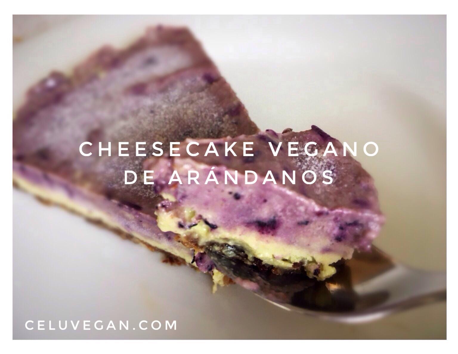 Cheesecake-Vegano-de-Arándanos